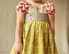 Girls dress toddler dress baby dress girls dresses 6-12 12-18 18-24 2t 3t 4t 5t 6 7 8 Spring chevron dress