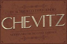 Chevitz typeface by Alterdeco Inc. on @creativemarket