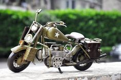 军用哈雷摩托车模型 铁皮车模型 复古手工模型装饰品 男士礼品-淘宝网