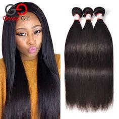 Gossip Girl 7A Mink Brazilian Virgin Hair Straight Cheap Brazilian Hair 3 Bundles Brazilian Straight Hair Unprocessed Human Hair