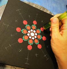 Feliz que puntean el conjunto de herramientas 9 herramientas | Etsy Dot Painting Tools, Dot Art Painting, Mandala Painting, Pebble Painting, Painting Patterns, Pebble Art, Stone Painting, Large Painting, Mandala Painted Rocks