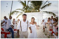 """Evelyn Heredia and Agustin Carro Schuck, with love, emotion and happiness, pursued a dream and made it a reality. Paulo Coelho in his book The Alchemist in a sentence said: """"When you really want something, the whole universe conspires to make your wish... Niko Bertino Photography #PuntaCanaBoda #WeddingPuntaCana"""