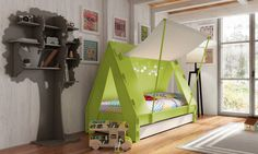 Not a superhero room but we could do this with an outdoor camping theme.
