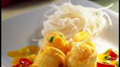 Tongrolletjes met kokos en kerrie