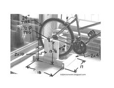 Tidy Brown Wren, bringing order to your nest: Plans For A DIY Exercise Bike Stand