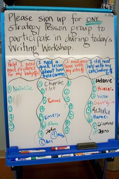 setting up group conferences based on specific skill writing workshop Writing Strategies, Writing Lessons, Teaching Writing, Writing Activities, Kindergarten Writing, Writing Process, Writing Resources, Teaching Ideas, Writing Lab