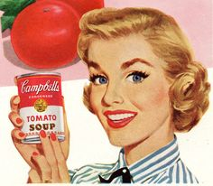 Vintage Campbell's Soup Ad Detail