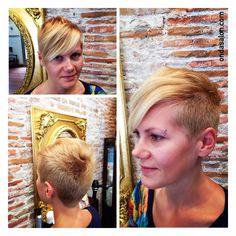 Color y corte de pelo corto - Color and short haircut by Piero Zattera.  #color #haircolor #cortedepelo #haircut #shorthaircut #cortedepelocorto #ondasalon #pierozattera #ondasalonbarceloneta #peluqueriabarceloneta #barceloneta #barcelona #hairandbeauty www.ondasalon.com