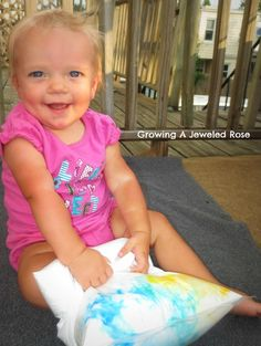 Sensory Play for Babies shaving cream http://www.growingajeweledrose.com/2012/07/sensory-play-for-babies-shaving-cream.html
