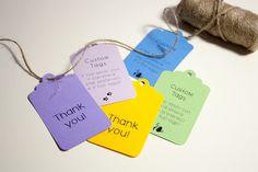 Custom tags - Tags personalizzati : Biglietti di valentina-creations