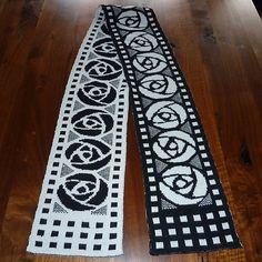 Free knitting pattern  Art Nouveau Scarf pattern by stillerGast reversible double knitting