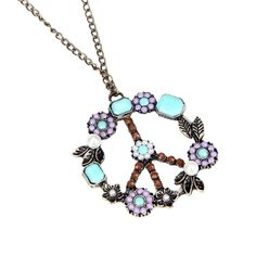 LUNIWEI Bohemian Fashion Women Retro Pearl Peace Symbol Necklace Sweat... -- This is an Amazon Affiliate link. Continue to the product at the image link.