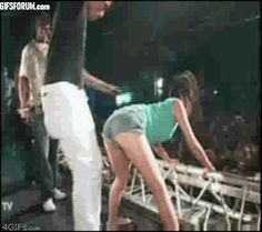Twerking too hard. | 29 Awesomely Awkward Attempts At Being Sexy