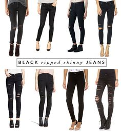 Black Ripped Skinny Jeans | The View From 5 ft. 2 - The View From 5 ft. 2 // Powered by chloédigital