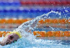 Australia's Brittany Elmslie takes part in the Women's 4 x 200m Freestyle Relay Final at the Tollcross International Swimming Centre during the 2014 Commonwealth Games in Glasgow on July 26, 2014. AFP PHOTO / GLYN KIRKGLYN KIRK/AFP/Getty Images