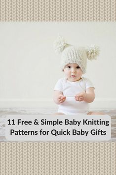 simple baby knitting patterns