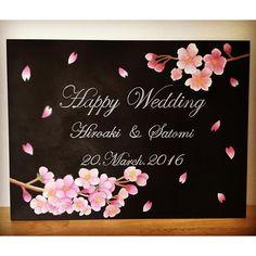 【ayakarie】さんのInstagramをピンしています。 《季節は完璧に過ぎてしまいましたが、3月に納品させていただた桜のウェディングボードです☺︎ ︎ ! #chalkart #blackboard #fukui #oita #ehime #アヤカリエチョークアート #アヤカリエ #チョークアート #福井 #大分 #愛媛 #オーダー #weddingitem #wedding #結婚式 #bridal #welcomebord #ウェルカムボード #ウェディングボード #桜 #cherryblossoms #ayakariechalkart #ayakarie》