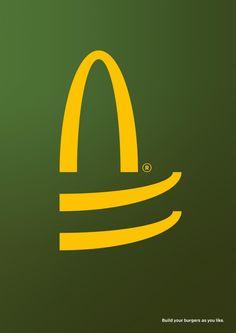 McDonald's Print Advert By thjnk, Leo Burnett: Build As You Like, 3 Guerilla Marketing, Ads Creative, Creative Advertising, Design Thinking, Adobe Illustrator Tutorials, Old Images, Guerrilla, Vector Pattern, As You Like