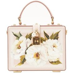 Pre-owned Dolce & Gabbana Leather Mini Bag ($1,848) ❤ liked on Polyvore featuring bags, handbags, pink, women bags handbags, pink handbags, handbag purse, mini purse, white handbag and floral handbags