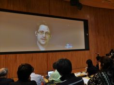 "Edward Snowden speaks about U.S. surveillance activities in Japan via a video conference from Russia during a symposium at the University of Tokyo. He said all the information that people input via cellphones or computers can be legally collected by the U.S. intelligence agency for analysis. A prime example of a threat to Japanese society, according to Snowden, is the controversial state secrecy law enacted in 2013, which he said is ""fundamentally dangerous to democracy."""
