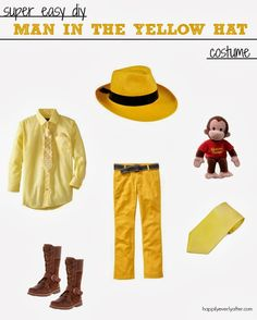 The man in the yellow hat costume // HAPPILY EVERLY AFTER