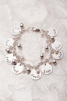 Grandma Charm Bracelet Gifts for Grandma Mothers by therhouse, $120.00