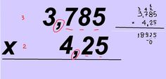 Curso de Matemática Aprenda a multiplicação com vírgulas Fazer e multilp...