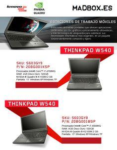 Estaciones de trabajo móviles Lenovo con máxima potencia grafica. Nvidia Quadro. www.madbox.es