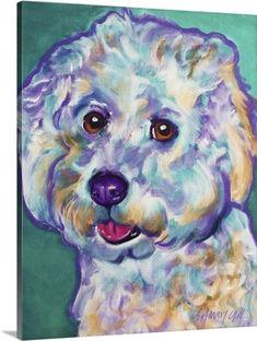 a6319fbf8822c6 Dawg Art Premium Thick-Wrap Canvas Wall Art Print entitled Bichon - Ruben