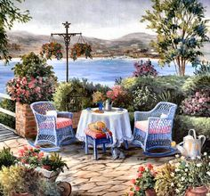 Tea on the Terrace by Barbara Felisky