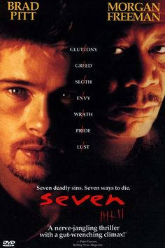 Seven Deadly Sins-SEVEN,Brad Pitt,Morgan Freeman,Kevin Spacy