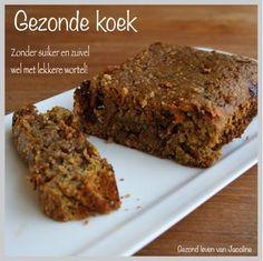 Een gezonde lekkere glutenvrije en suikervrije koek! Een koek gaat er altijd wel in en helemaal een gezonde. Dat is zo'n lekkere geda...