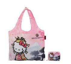 efdd7db2f0b2 Hello Kitty Eco Bag Foldable - Beautiful Kitty - Dearisimo Collection   hellokitty  ecobag  dearisimo  japangiftbay  shopping