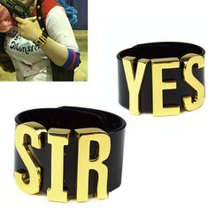 Harley Quinn Suicide Squad Cosplay YES SIR Cuff Bracelets Costume Halloween hand