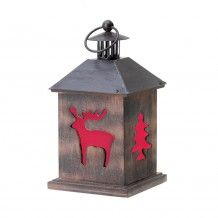 Holiday Cabin Wooden Lantern