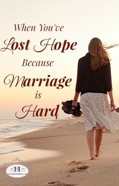 Marriage is hard work and sometimes we feel like we've just lost hope. Hope for the Hurting Wife offers hope and encouragement for struggling wives. | hope for my marriage | redemption in marriage | struggling marriage | when marriage is hard | marriage resources || Rebekah M Hallberg