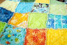 Art flannel rag quilt textiles