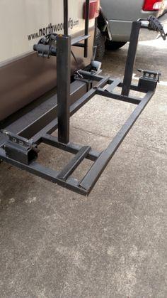 Custom Built Travel Trailers >> Custom Bike Rack and Cargo Carrier Frame Mount Receiver | Camper life | Rv bike rack, Rv ...