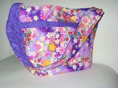 Asian Shoulder Bag Slouch/Hobo Designer Kona Bay Fabric
