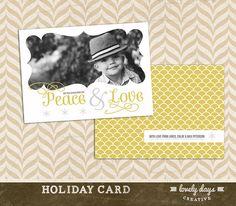 Christmas Card Holiday Card Template INSTANT by LovelyDaysCreative