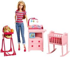 Barbie Careers Babysitter Doll and Playset - Free Shipping