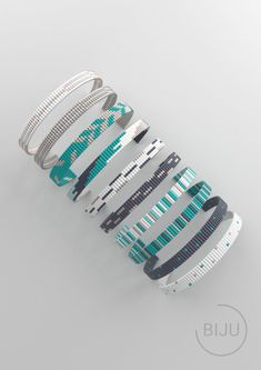 off loom beading techniques Loom Bracelet Patterns, Bead Loom Bracelets, Bracelet Crafts, Beaded Jewelry Patterns, Bead Jewelry, Macrame Bracelets, Bead Crochet Patterns, Bead Embroidery Patterns, Weaving Patterns