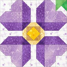 Beautiful flower patterns make up the My Flower Patch Complete Set. Would be a nice spring quilt. DLW