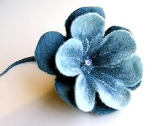 beautiful wet felted flower.