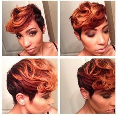 Hot! I love the colors! She say, short hair don't care!! I know that's right baby