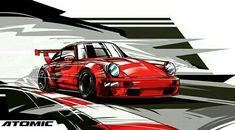 Porsche 356, Carros Lamborghini, Automobile, Best Car Deals, Car Vector, Car Illustration, Car Posters, Vintage Race Car, Car Sketch