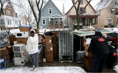 A article in which people in urban areas says that eviction is now a common sight and a common part of life for them. Evictions are affecting many people especially single mothers.