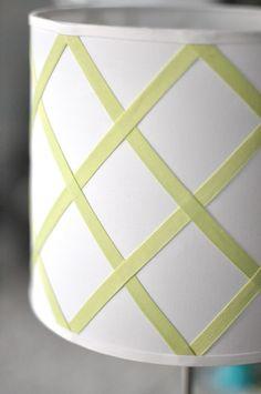 DIY  caitlin wilson design: style files: DIY: trellis lampshade