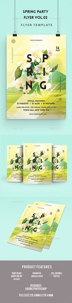 Spring Party Flyer Template | Spring, Party Flyer And Sun