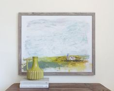 Little White Barn, Abstract Canvas – Lindsay Letters